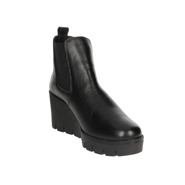 <Arlee  Mod Shoes Ankle Boots With Wedge Heels Black WE104