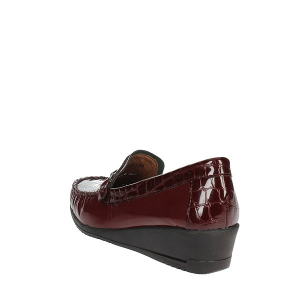 Sintonia Shoes Moccasin Burgundy CS2007-4
