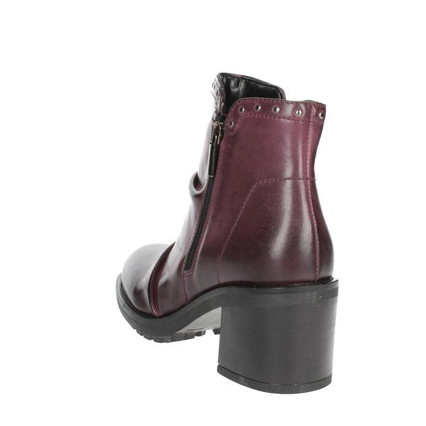Marko' Shoes Ankle Boots Burgundy 857020