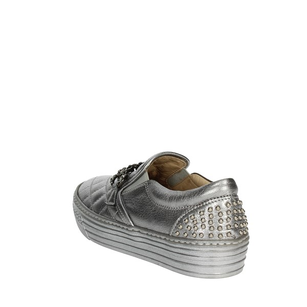 <Florens Shoes Sneakers Silver F0945