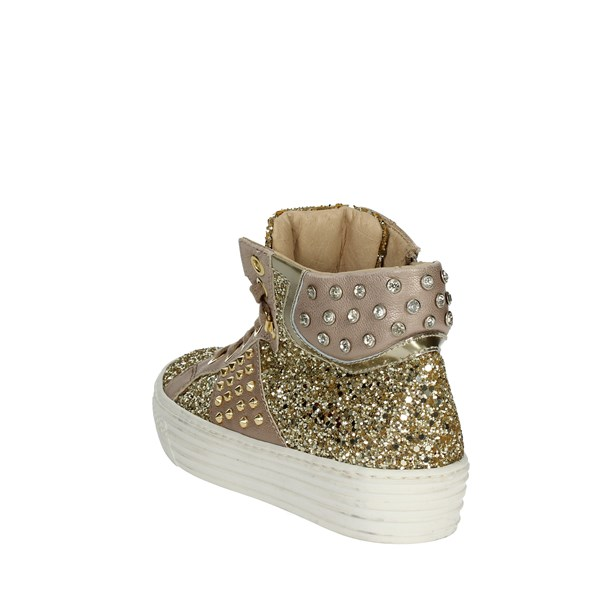 <Florens Shoes Sneakers Gold F0948