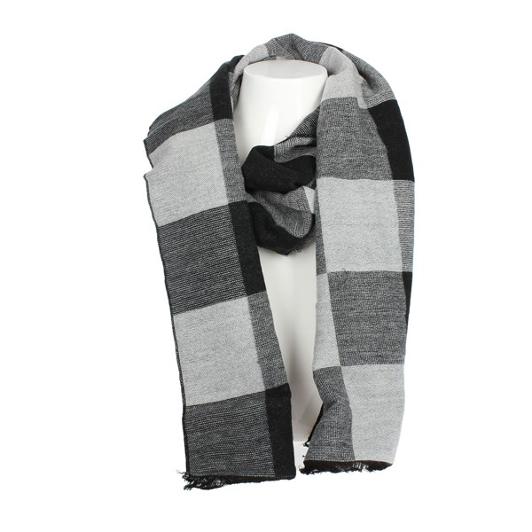 Gai Mattiolo Accessories Scarves Grey/Black U13-3
