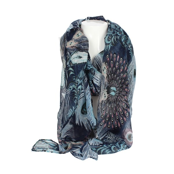 Gai Mattiolo Accessories Scarf Blue B01-3