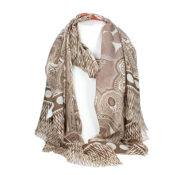Gai Mattiolo Accessories Scarf Brown A10-1