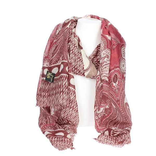 Gai Mattiolo Accessories Scarf Burgundy A10-2