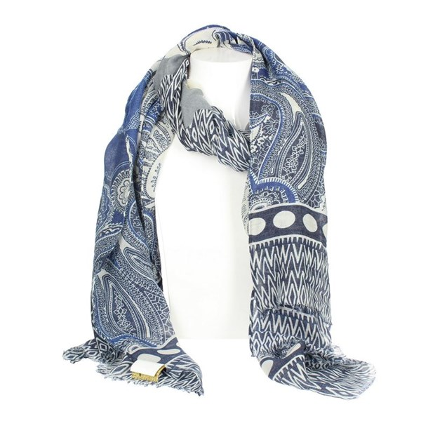 Gai Mattiolo Accessories Scarf Blue A10-3