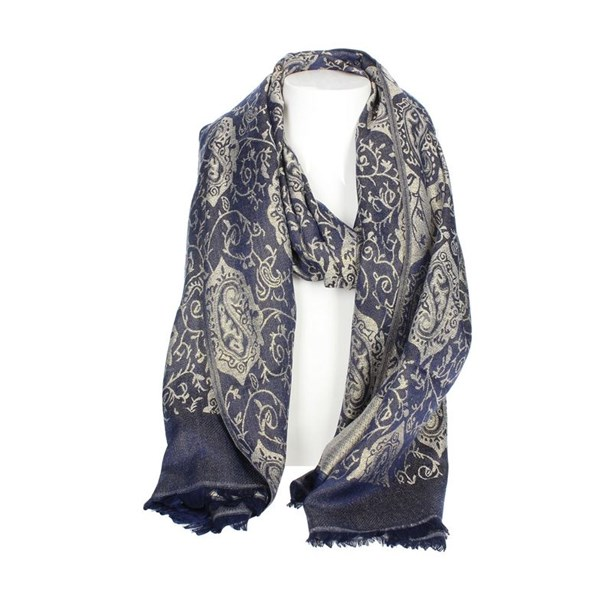 Gai Mattiolo Accessories Scarf Blue C03-4