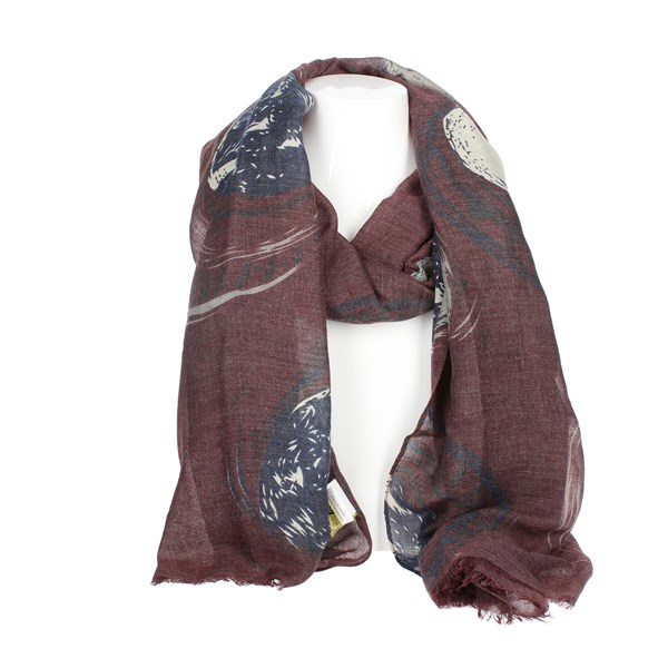 Gai Mattiolo Accessories Scarf Burgundy A07-2