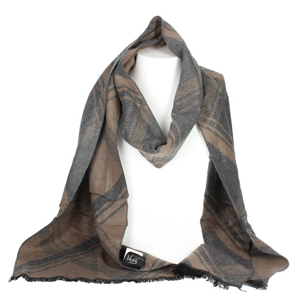 Gai Mattiolo Accessories Scarves Brown Taupe U11-1