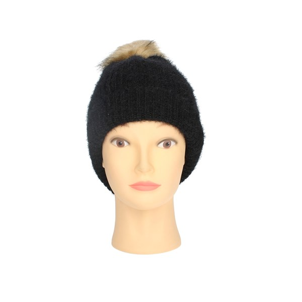 Gai Mattiolo Accessories Beanies Black E01-4