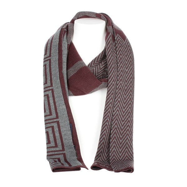 Jeckerson Accessories Scarves Burgundy SCR 02638