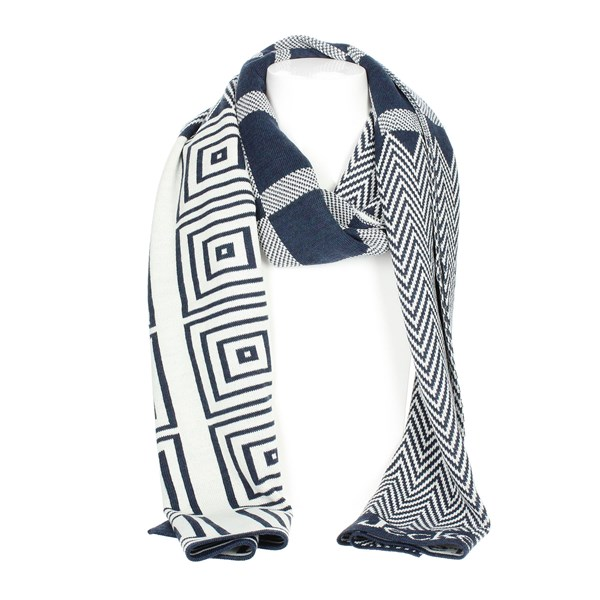 Jeckerson Accessories Scarves Blue/White SCR 02638