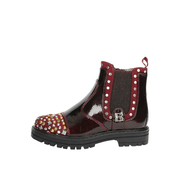 Laura Biagiotti Dolls Shoes Ankle Boots Burgundy 4777