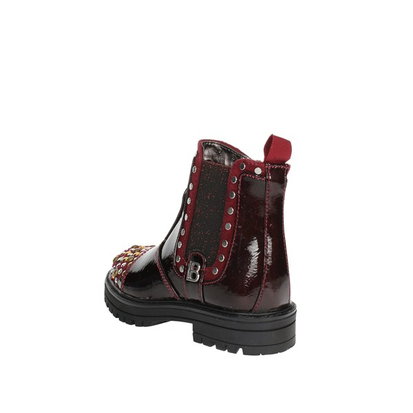 <Laura Biagiotti Dolls Shoes Ankle Boots Burgundy 4777