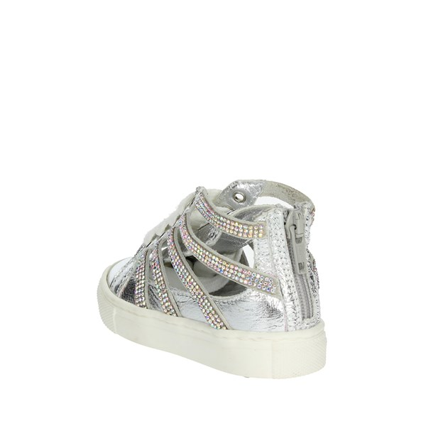 Blumarine  Shoes Sneakers Silver C4345