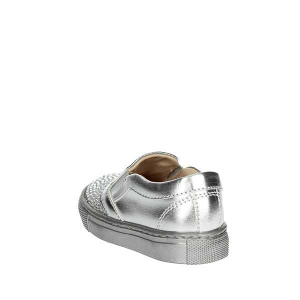 <Florens Shoes Sneakers Silver W8564