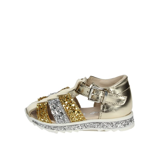 Florens Shoes Sandal Gold E2449