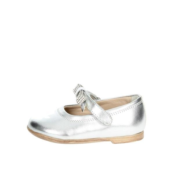 Florens Scarpe Bambina Ballerine ARGENTO W8124 ... a69431a1636