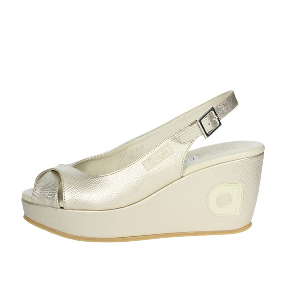 Agile By Rucoline  Shoes Sandal Gold 1661