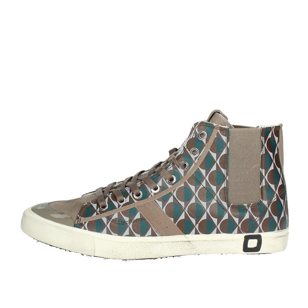 D.a.t.e. Shoes High Sneakers Brown I18-263