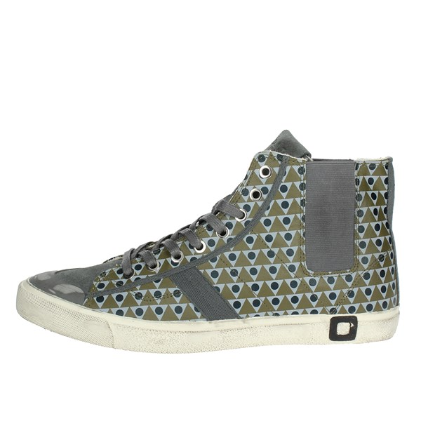 D.a.t.e. Shoes High Sneakers Grey I18-260