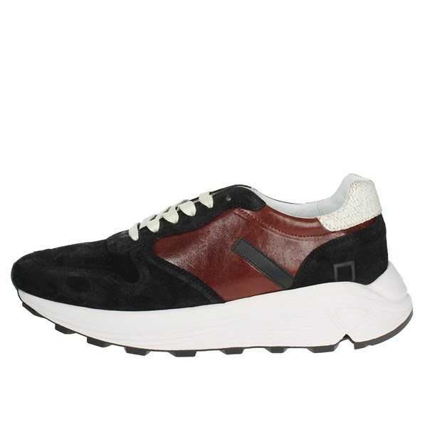 D.a.t.e. Shoes Low Sneakers Black/Burgundy I18-262