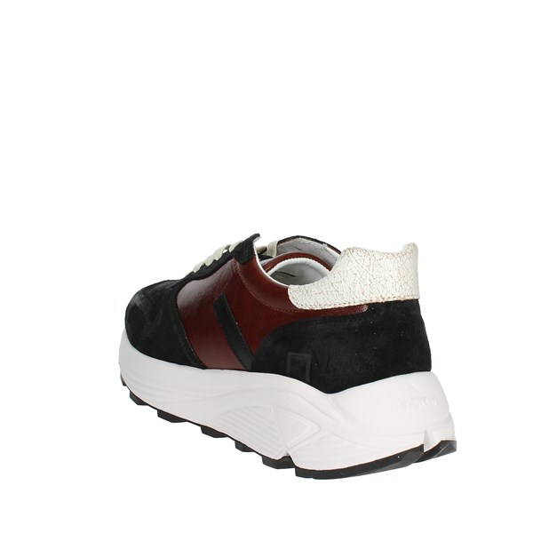<D.a.t.e. Shoes Low Sneakers Black/Burgundy I18-262
