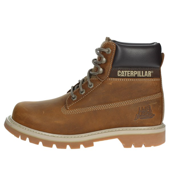 Caterpillar Shoes Boots Brown leather P708190
