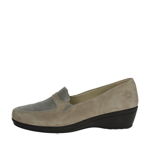 Dr.scholl Shoes Moccasin Brown Taupe CARNIA