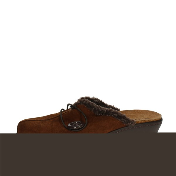 Sanagens Shoes slippers Brown leather 5677-4