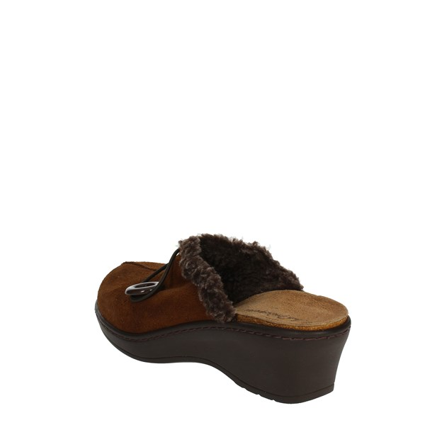 <Sanagens Shoes slippers Brown leather 5677-4
