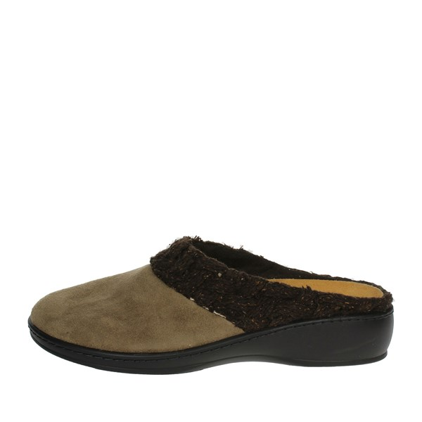 Sanagens Shoes slippers Brown Taupe 8195-6