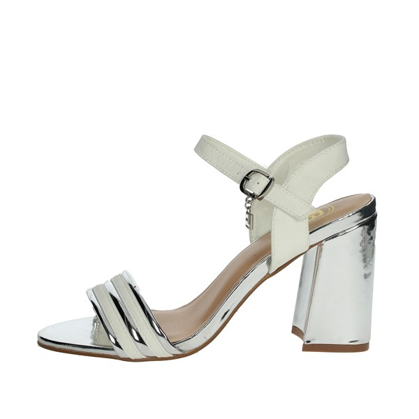 Laura Biagiotti Shoes Sandals White/Silver 5382