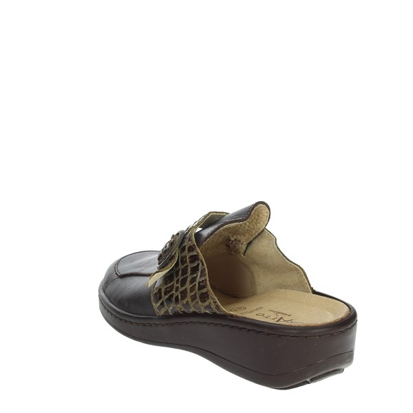 <Sanagens Shoes slippers Brown INDOOR