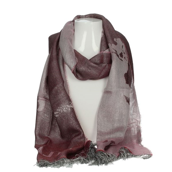 1 Classe Accessories Scarves Burgundy K 0342