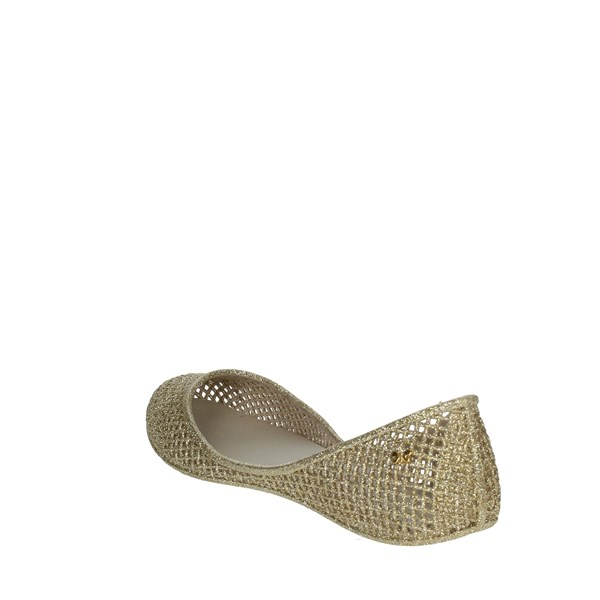 Zaxy Shoes Ballet Flats Gold 81982