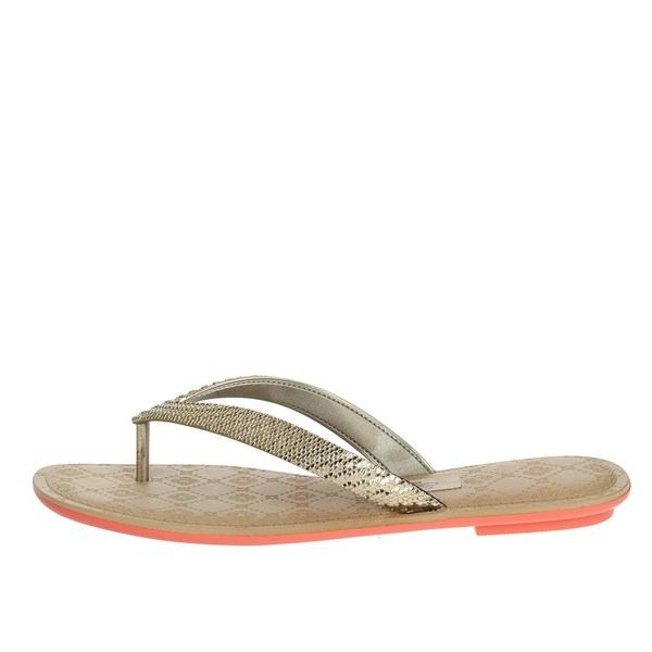 Grendha Shoes Flops Gold 17189