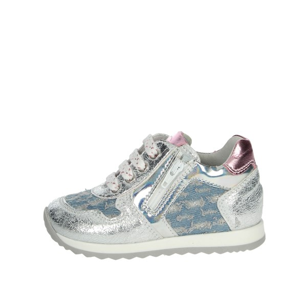 Nero Giardini Shoes Sneakers Silver/ sky blue P920885F