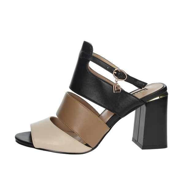 Laura Biagiotti Shoes Sandals Black/Beige 5305