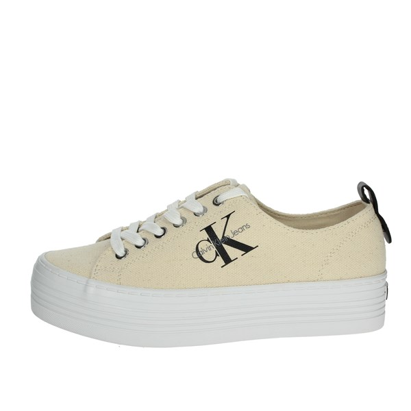Calvin Klein Jeans Shoes Sneakers Beige RE9730