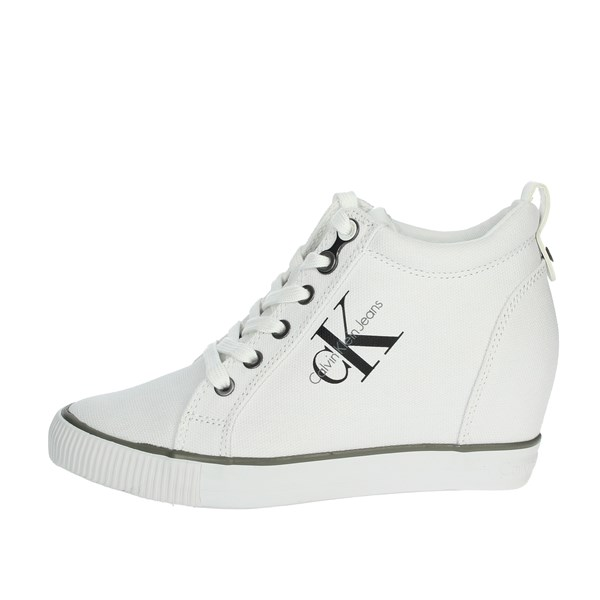 Calvin Klein Jeans Scarpe Donna Sneakers BIANCO R3551