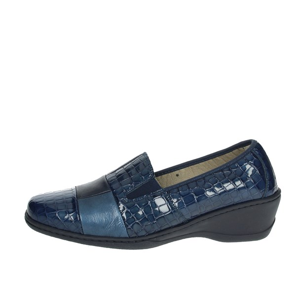 Notton Shoes Moccasin Blue 2298