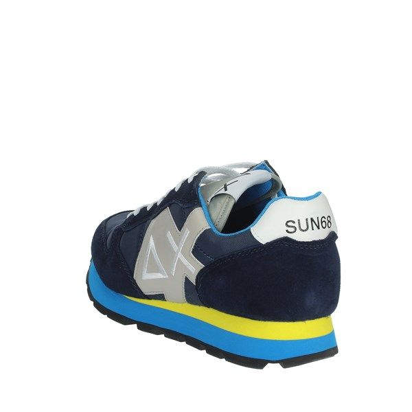 <Sun68 Shoes Sneakers Blue/Yellow Z19103