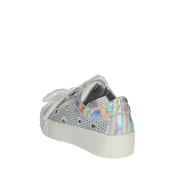 <Asso Scarpe Bambina Sneakers BIANCO/ARGENTO AG-555