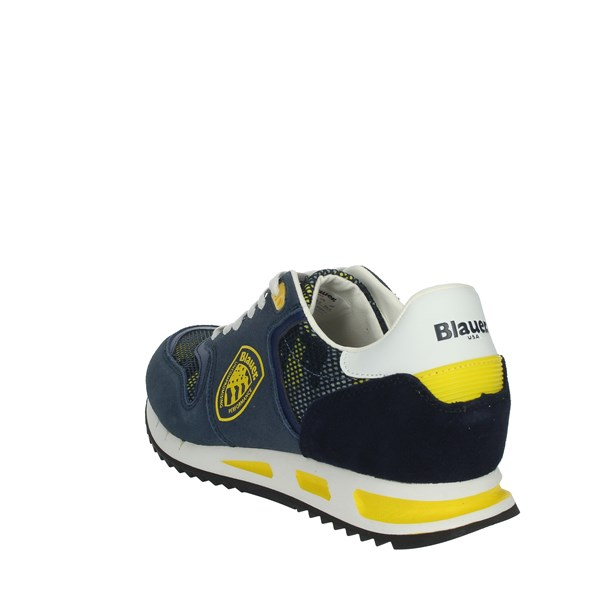 <Blauer Shoes Sneakers Blue/Yellow MEMPHIS06