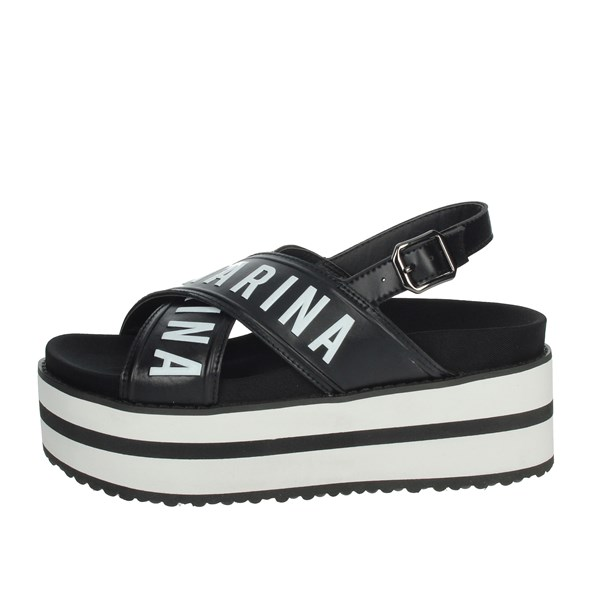 Fornarina Shoes Sandals Black PE19CREAM2