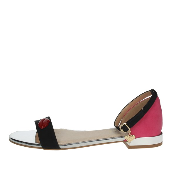 Braccialini Shoes Sandals Black/Fuchsia TA484
