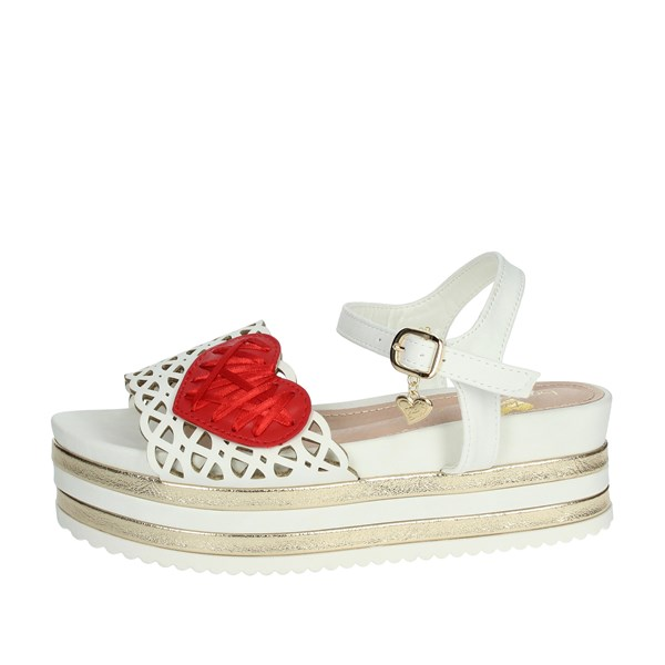 Braccialini Shoes Sandals White/Red TA405