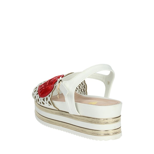 <Braccialini Shoes Sandals White/Red TA405