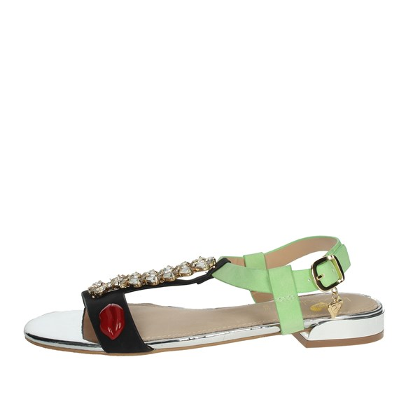 Braccialini Shoes Sandals Black/Green TA478